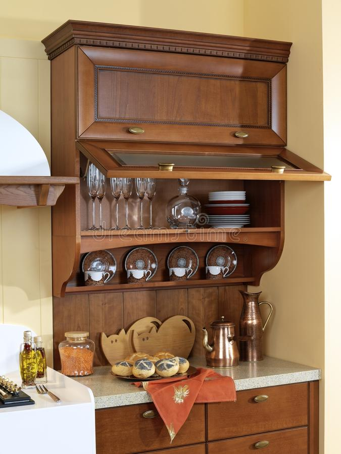 Download Kitchen Cabinet for dishes stock image. Image of style - 24800641