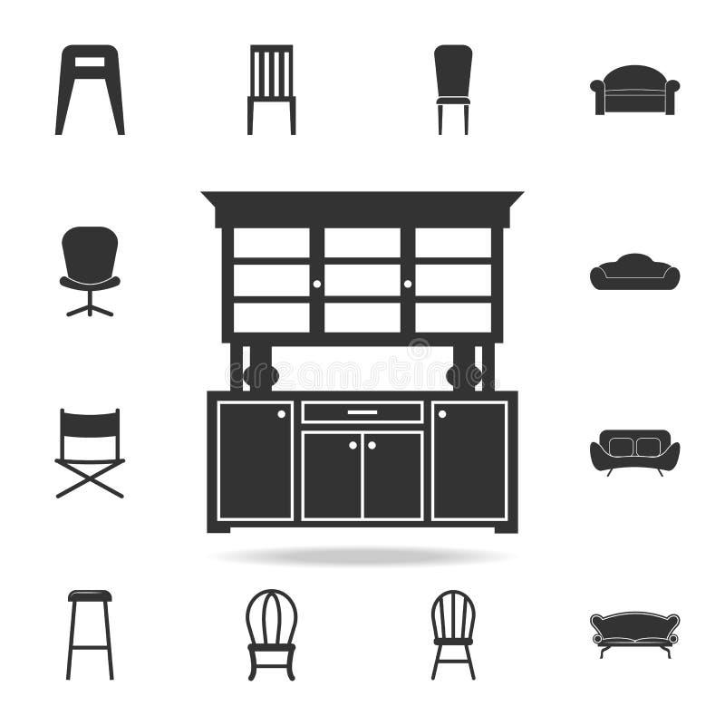 Kitchen Cabinet Icon. Detailed Set Of Furniture Icons. Premium ...