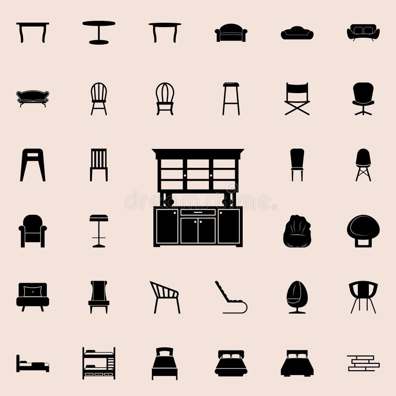 Kitchen Cabinet Icon Detailed Set Of Furniture Icons Premium