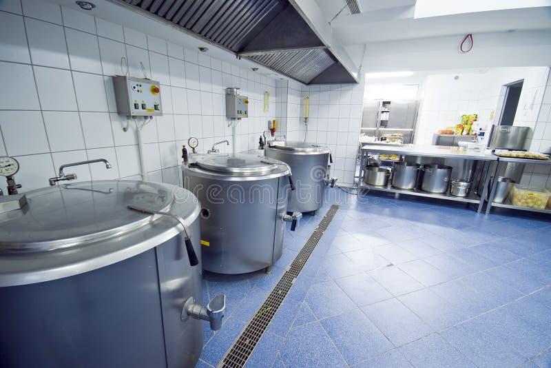 Download Kitchen cauldrons stock photo. Image of cauldron, hotel - 4378960