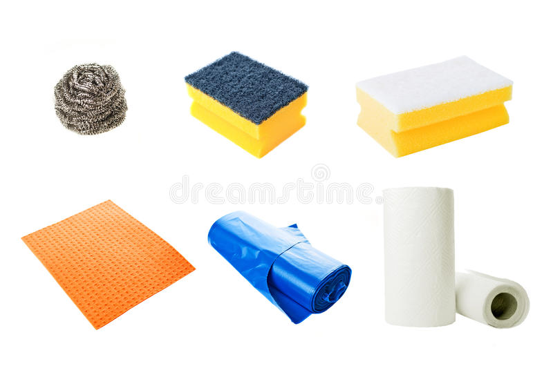 Kitchen cleaning equipment stock photography