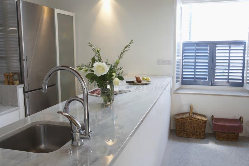 Kitchen In Contemporary House stock photos