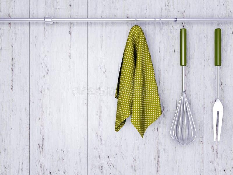 Kitchen cooking utensils. royalty free illustration