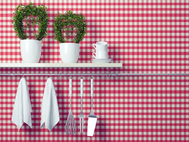 Kitchen cooking utensils. stock illustration