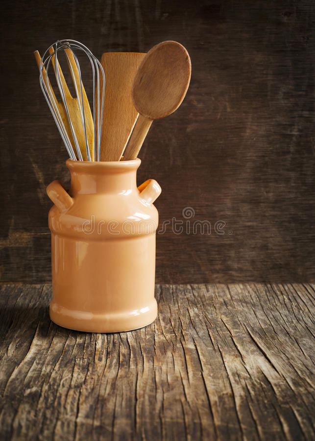 Kitchen cooking utensils. royalty free stock photography