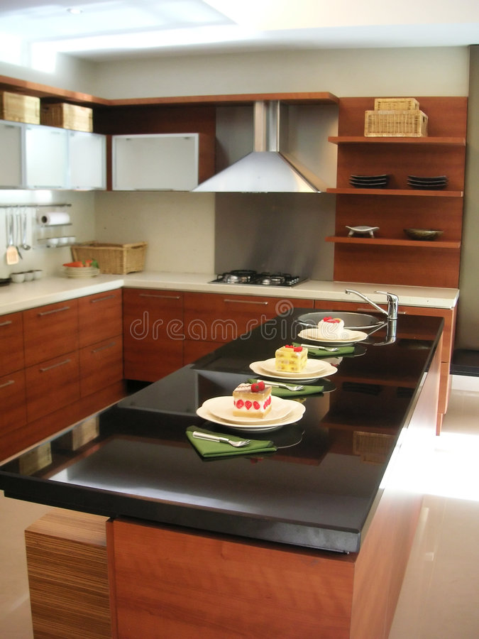 Kitchen Counter Stock Photo Image Of Black Modern Cook