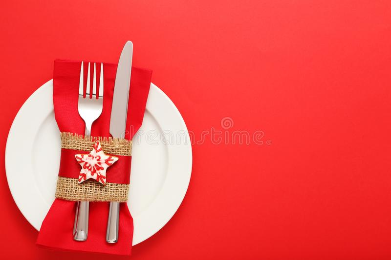 Kitchen cutlery with cookies stock images