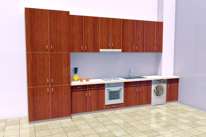 Kitchen design stock illustration. Illustration of house - 66910414