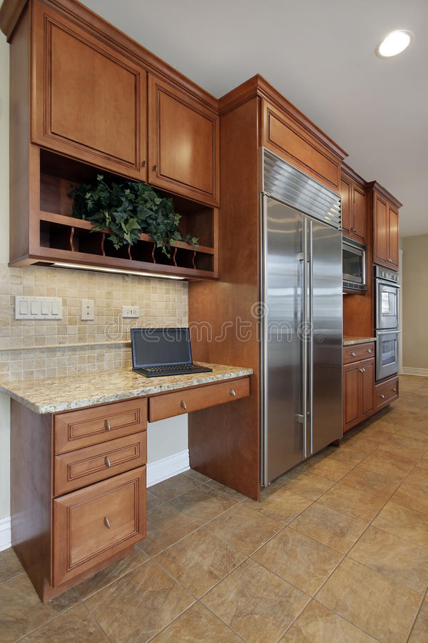 Download Kitchen desk area stock photo. Image of design, residential - 22336998