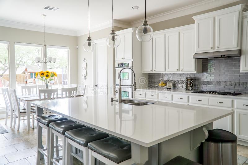 Kitchen and Dining Area stock photography