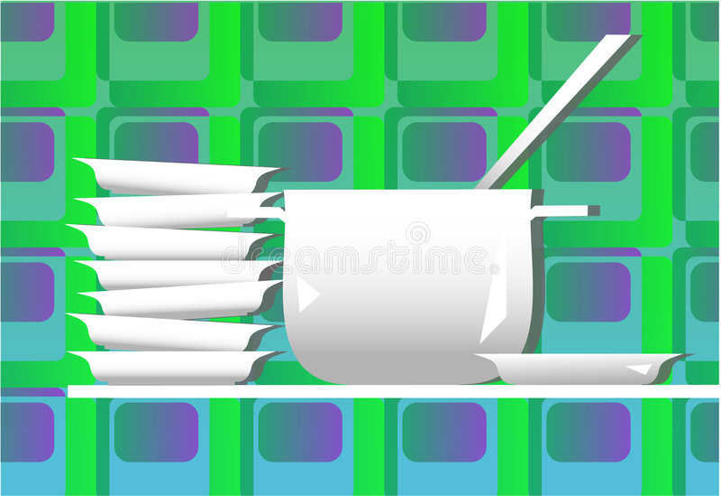 Download Kitchen dinner stock illustration. Illustration of house - 564374
