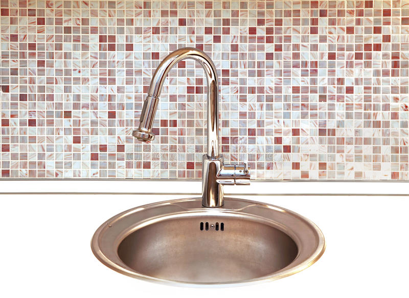 Kitchen faucet royalty free stock photos