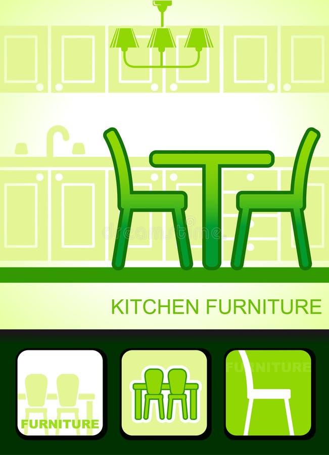 Download Kitchen furniture stock vector. Image of furniture, room - 23841909