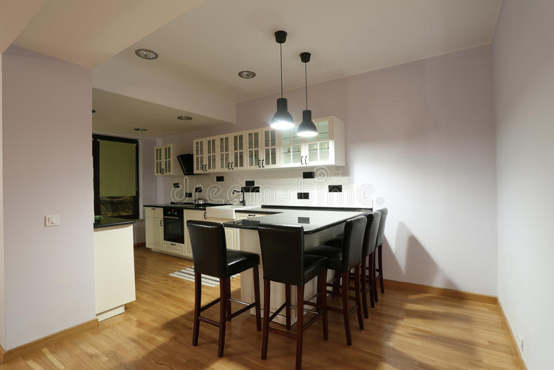 Kitchen furniture royalty free stock photo
