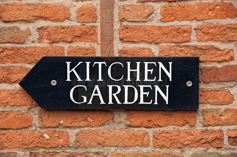 Kitchen Garden Sign stock photos