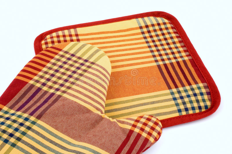 Kitchen glove royalty free stock images
