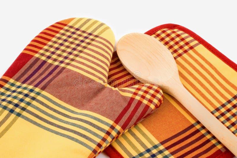 Kitchen glove royalty free stock photos