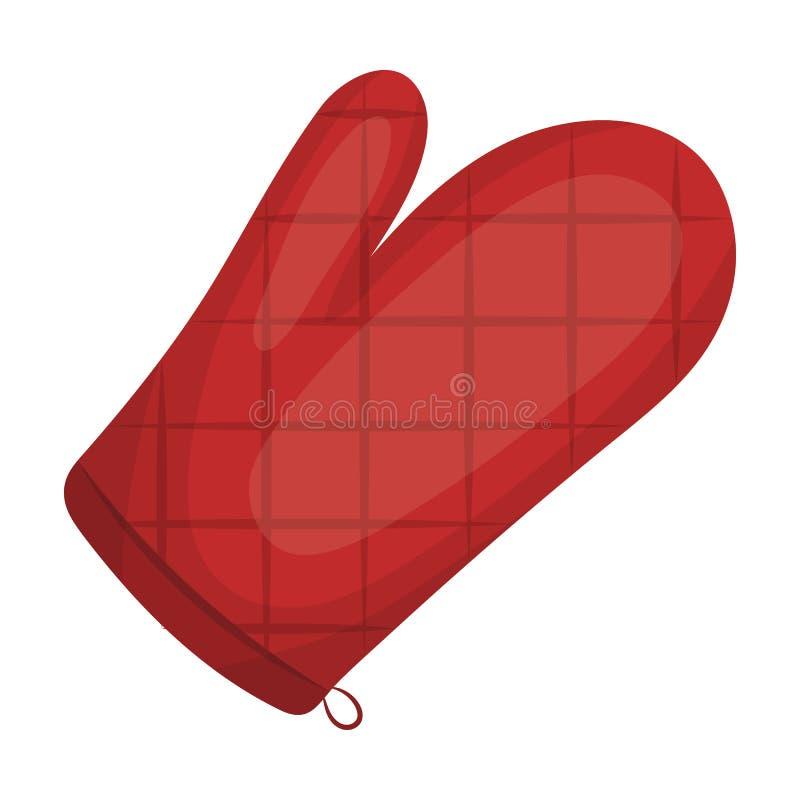 Kitchen glove.BBQ single icon in cartoon style vector symbol stock illustration web. Kitchen glove.BBQ single icon in cartoon style vector symbol stock royalty free illustration