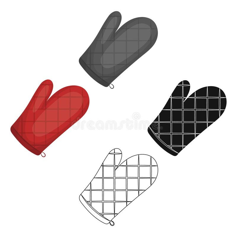 Kitchen glove.BBQ single icon in cartoon style vector symbol stock illustration web. Kitchen glove.BBQ single icon in cartoon style vector symbol stock vector illustration