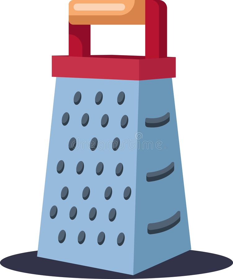 Kitchen grater vector color illustration. A Kitchen grater for grating any kind of food items like paneer carrot beetroot etc. vector color drawing or royalty free illustration