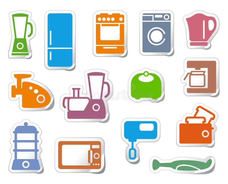 Download Kitchen home appliances stock vector. Illustration of group - 20524692