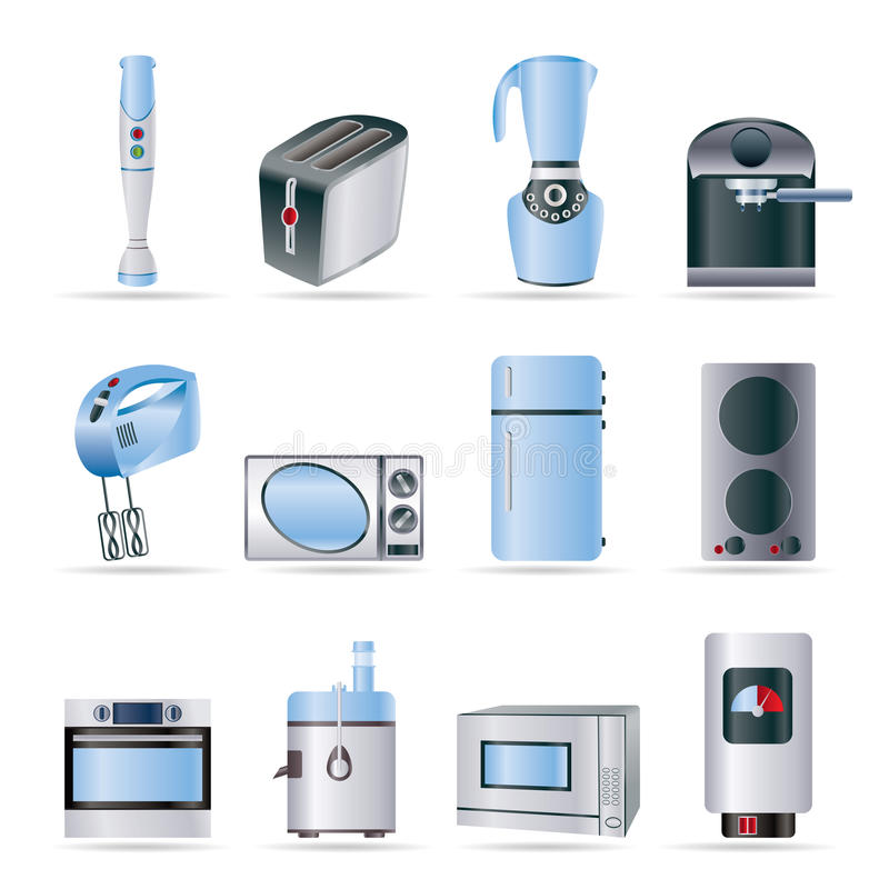 Download Kitchen And Home Equipment Icons Stock Vector - Image: 11123480
