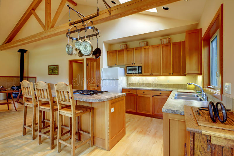 Kitchen, horse ranch. royalty free stock photo