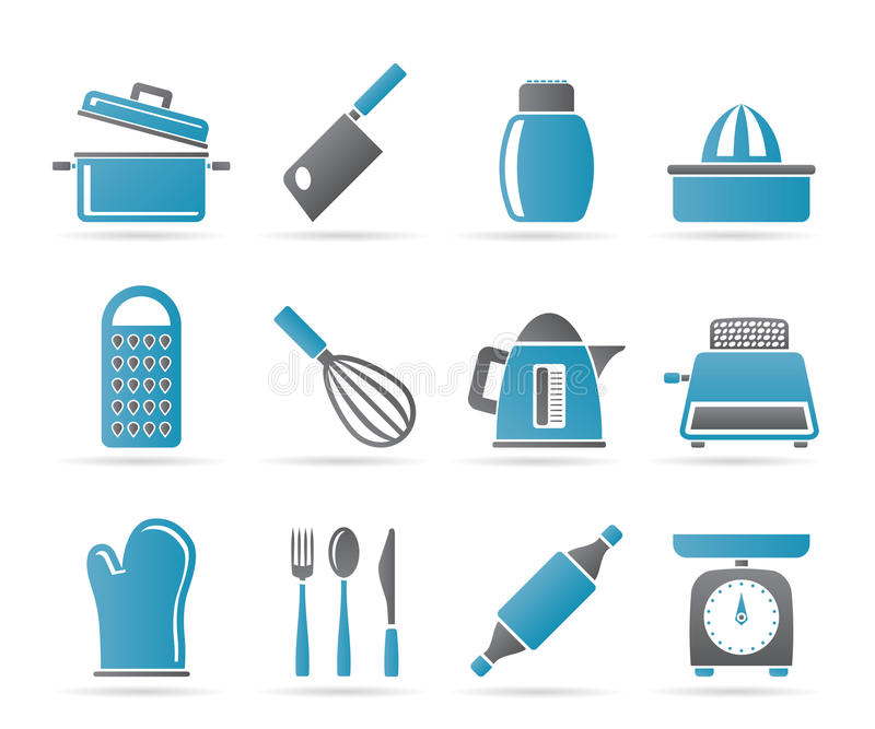 Download Kitchen And Household Utensil Icons Royalty Free Stock Photos - Image: 18825718