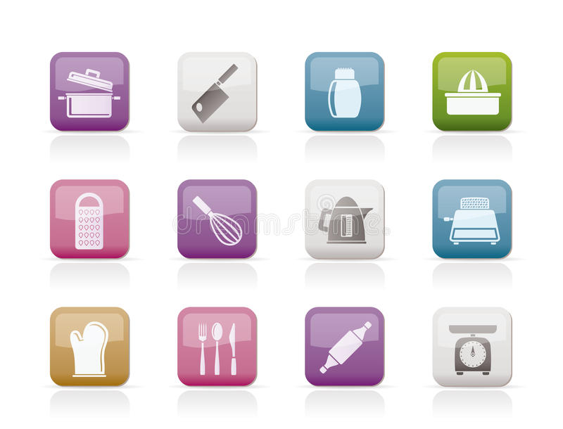 Download Kitchen And Household Utensil Icons Stock Vector - Illustration of salt, ingredient: 18825741