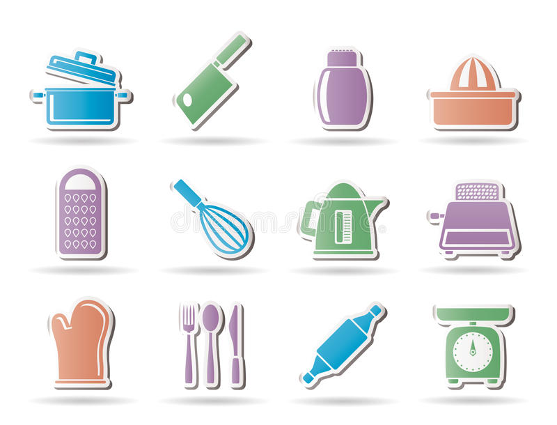 Download Kitchen And Household Utensil Icons Stock Vector - Illustration: 18908051