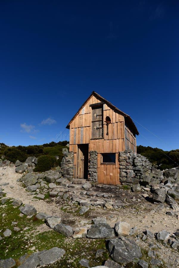 Kitchen Hut at Overland Track. In Cradle Mountain-Lake Saint Clair National Park, Tasmania, Australia royalty free stock photos