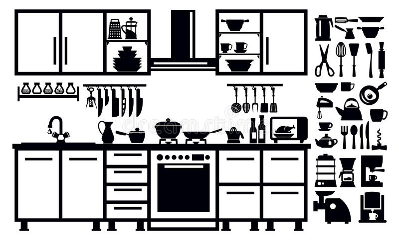 Download Kitchen icon stock vector. Illustration of image, isolated - 30428702