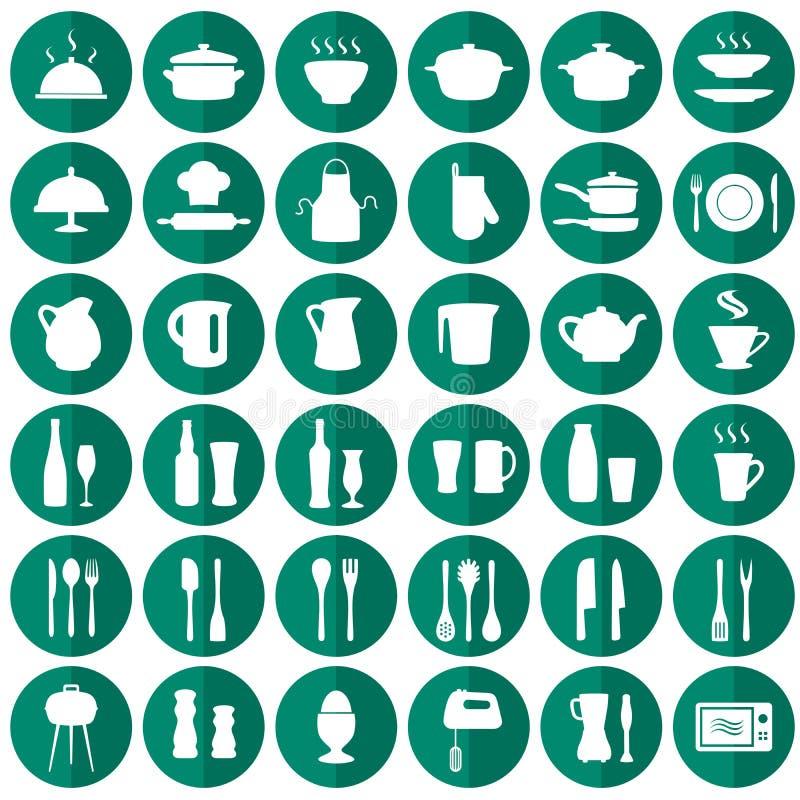 kitchen icons royalty free illustration