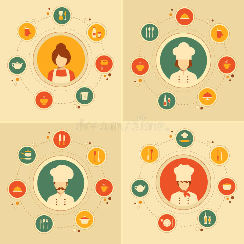 Kitchen icons vector illustration