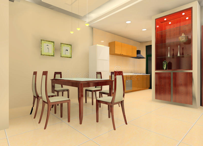 Kitchen illustration design stock illustration
