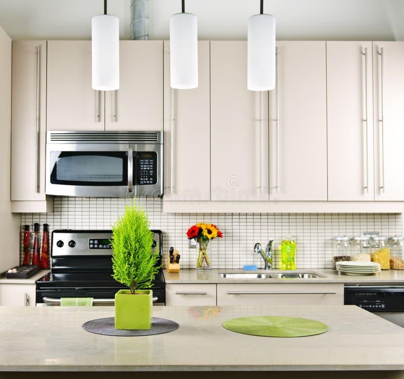 Download Kitchen interior stock photo. Image of lighting, decorating - 16646326
