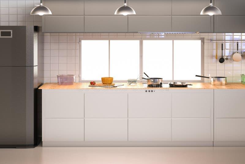 Kitchen interior stock photography