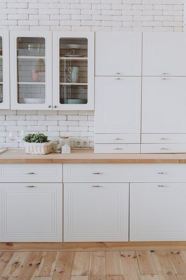 Kitchen interior loft style modern minimalism royalty free stock images