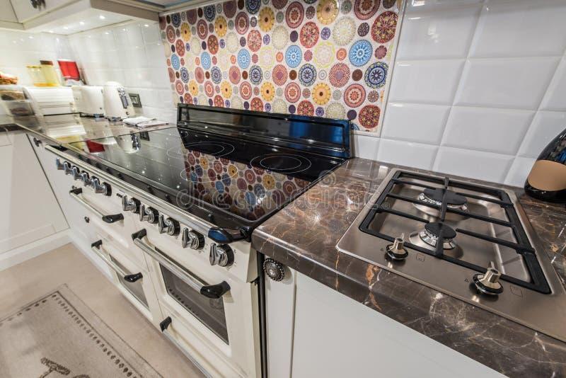Kitchen interior with modern appliances stock photo