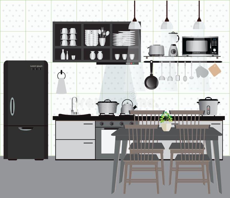 Kitchen stock illustration
