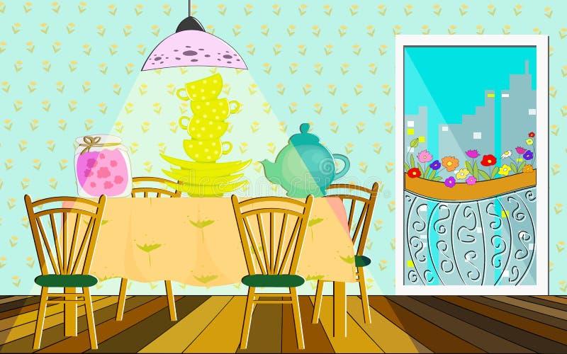 Kitchen interiors stock illustration