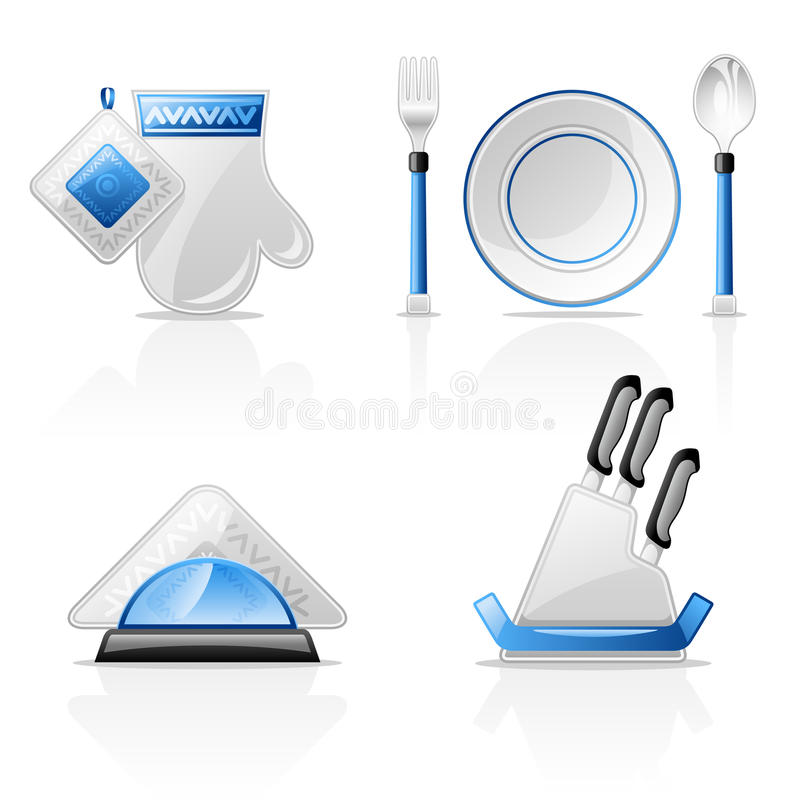 Download Kitchen items stock vector. Illustration of kitchen, reflection - 22763230