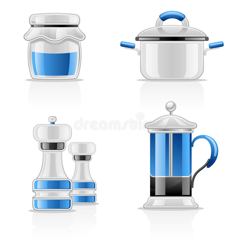 Download Kitchen items stock vector. Image of salt, mill, illustration - 22763235