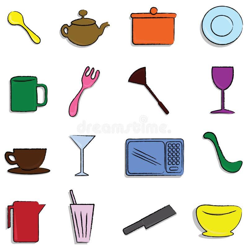 Kitchen items vector illustration