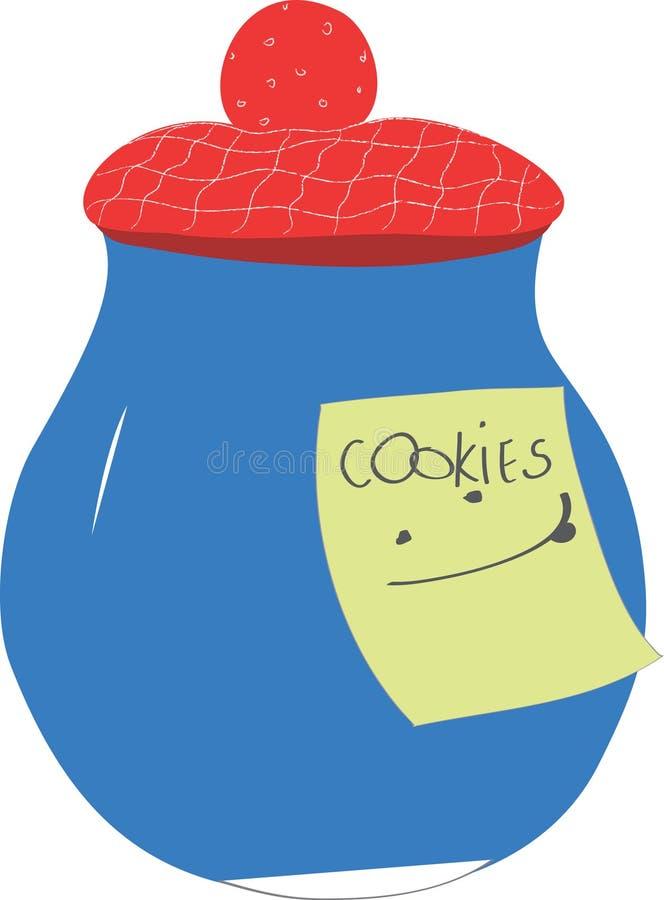 Kitchen jar stock illustration