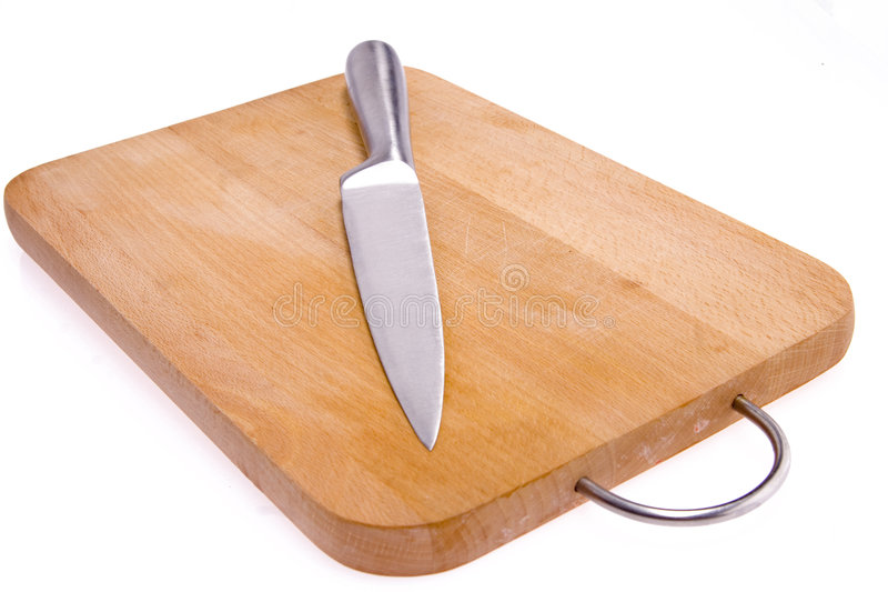 Kitchen knife and bard. stock photography