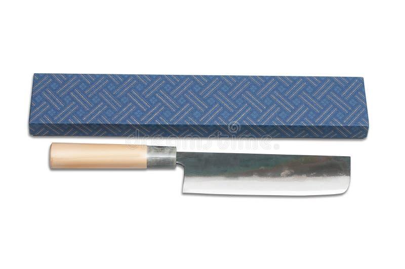 Kitchen knife Japanese. Isolated on white background royalty free stock photos