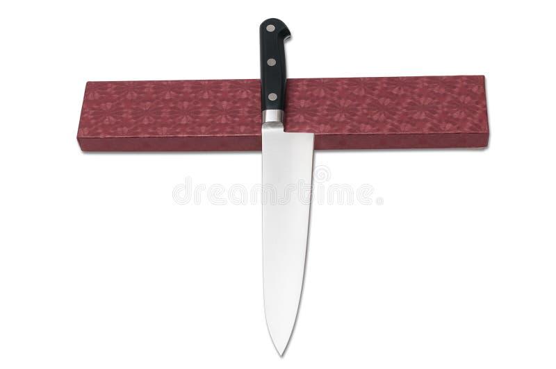 Kitchen knife Japanese. Isolated on white background royalty free stock image