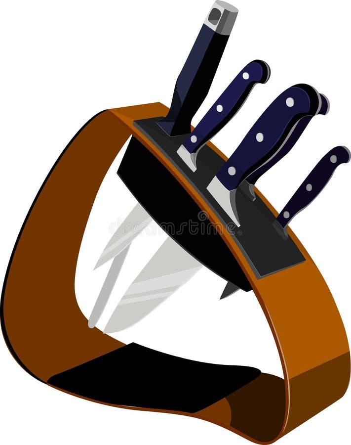 Download Kitchen knifes stock vector. Image of slice, equipment - 5186550