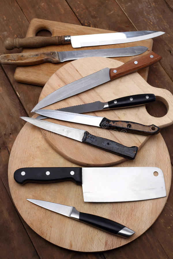Download Kitchen knives stock image. Image of board, collection - 38645085